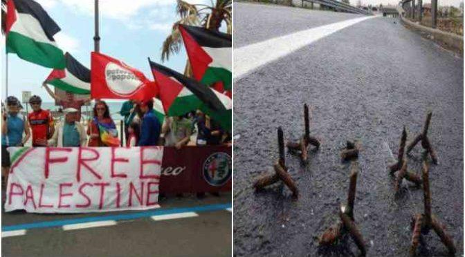 Attacco al Giro d'Italia: estremisti rossi e islamici spargono chiudi su asfalto