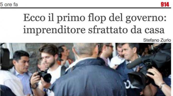 Gentiloni sfratta imprenditore, Il Giornale dà la colpa a Salvini