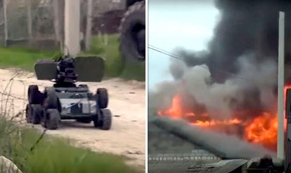 Il robot killer di Putin vaporizza 11 terroristi islamici – VIDEO