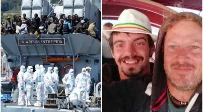 Velisti dispersi abbandonati dal governo: nave Marina italiana se ne va