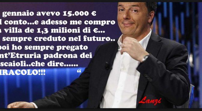 Renzi compra villa da 1 milione di euro: sul conto ne aveva 15mila