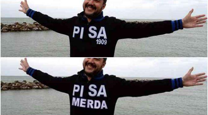 Sinistra disperata, fotomontaggio bufala di Salvini per non perdere Pisa