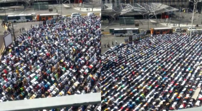 Marea islamica a Napoli celebra Ramadan – VIDEO CHOC