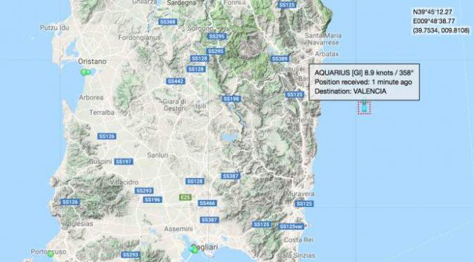 Acquarius, nave Ong pericolosamente vicina alla Sardegna