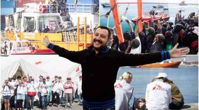 """Aquarius scarica a Valencia, Salvini esulta: """"Ho difeso frontiere"""""""