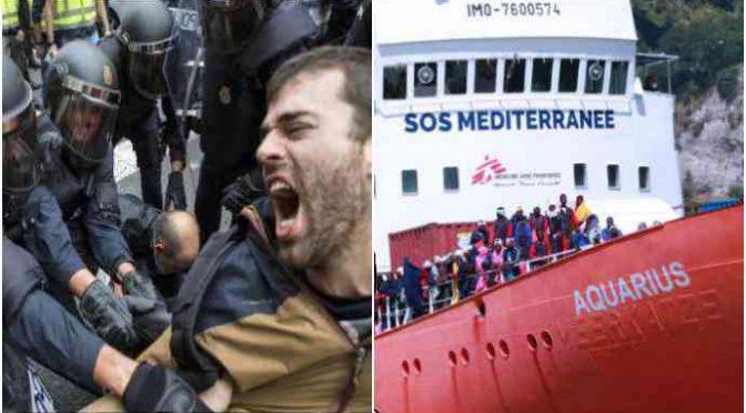 Valencia: 100 studenti sfrattati da dormitorio per fare posto a clandestini Aquarius