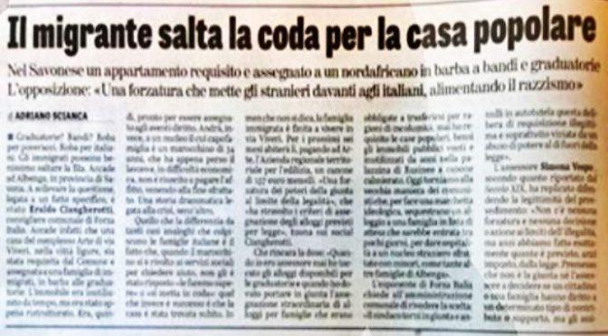 Pd requisisce casa popolare a italiani e la assegna a immigrati