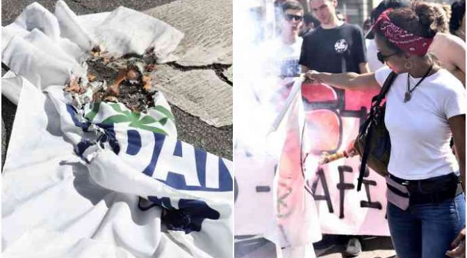 Centri sociali e immigrati bruciano bandiera Lega, ma sbagliano!