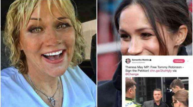 Anche la sorellastra di Meghan Markle, Sarah, chiede la liberazione di Tommy Robinson