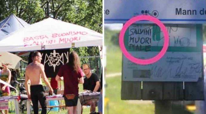 Minacce di morte a Salvini alla festa patrocinata dal PD