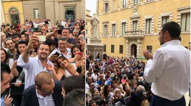 Scoop di Repubblica: Salvini ha passato l'estate tra la gente