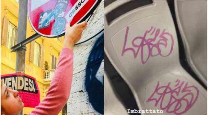 La figlia di Asia Argento imbratta i bus e se ne vanta su Instagram – FOTO