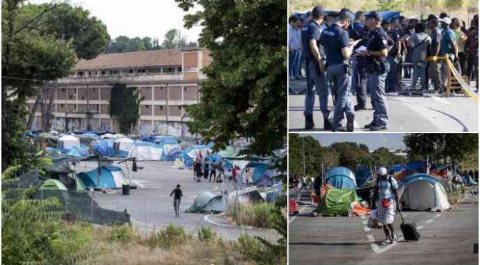 Ruspa a Roma: Salvini sgombera tendopoli immigrati