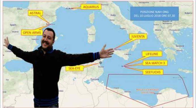 Salvini esulta, ecco dove ha cacciato le Ong