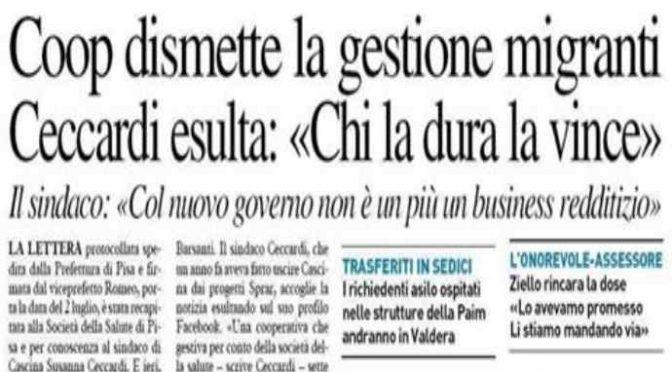 """Coop chiude centro accoglienza: """"Con Salvini non rende più"""""""