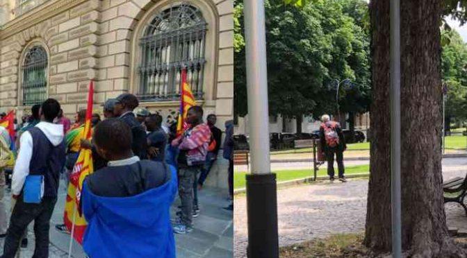 Mentre immigrati insoddisfatti protestano italiano rovista immondizia – FOTO