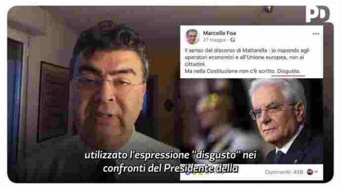 Avviso al PD: proviamo tutti disgusto per quello che Mattarella rappresenta
