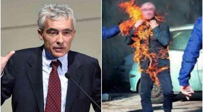 Disoccupato italiano si dà fuoco, morto