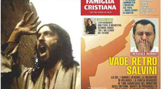 Vescovo 'scomunica' Famiglia Cristiana: sto con Salvini