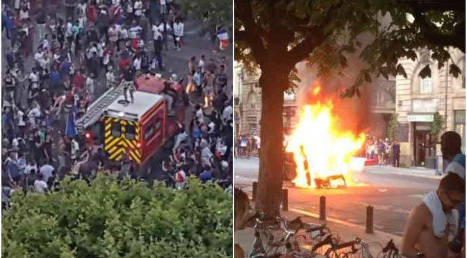 Francia vince Mondiali: caos e violenze afroislamiche in tutto il Paese – VIDEO