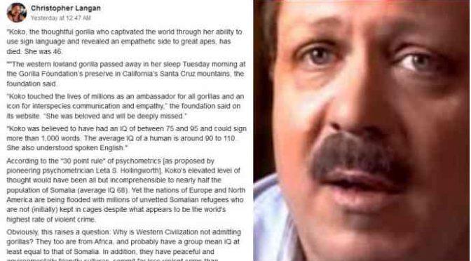 """L'uomo """"più intelligente del mondo"""" contro immigrazione: cacciato da facebook"""