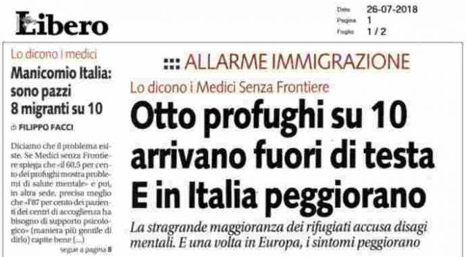 Il 20% di chi sbarca ha problemi mentali sconosciuti in Italia: e gli altri…