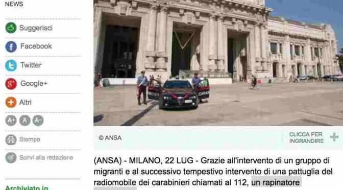Immigrato rapina italiano, ecco come Ansa violenta la notizia