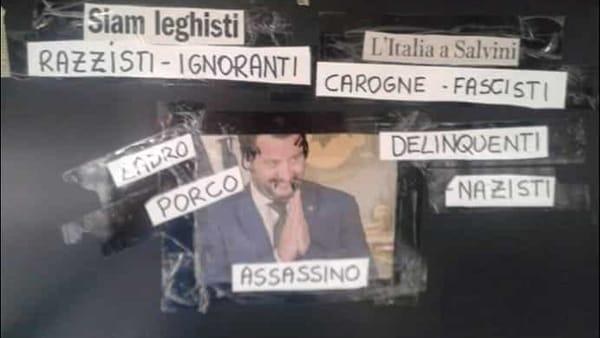 Minacce e offese a Salvini in spazio pubblico a Bologna