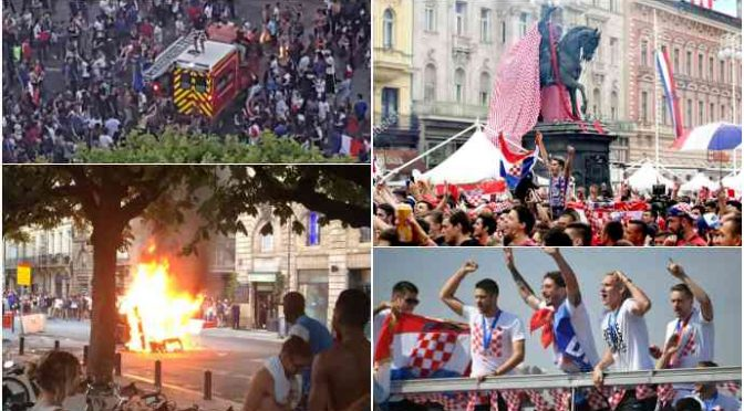 Festa a Zagabria, saccheggi a Parigi: ecco la differenza tra una società multietnica e una no – VIDEO