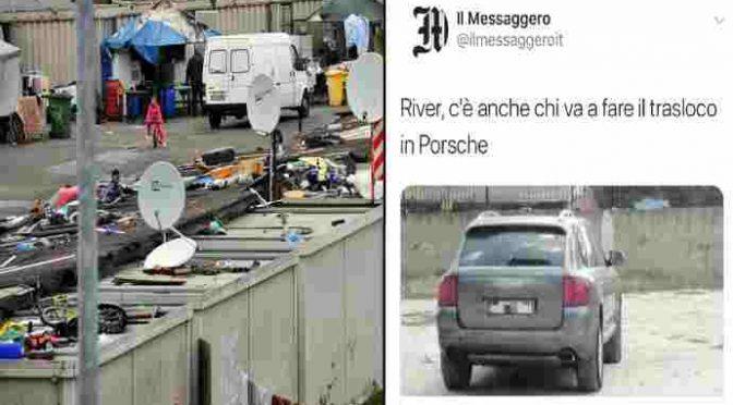 Sgombero vietato a Roma: salvi i rom con la Porsche