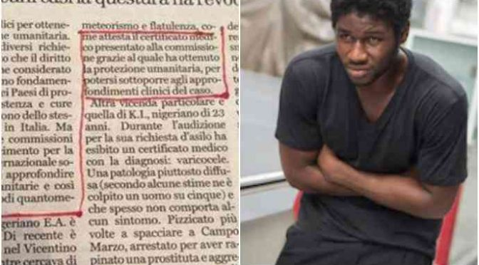 Profugo scorreggione: nigeriano ottiene asilo per eccesso di flautolenze