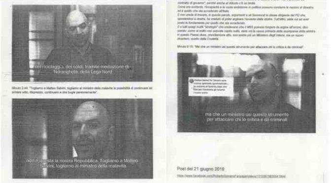 """Salvini querela Saviano per post necrofilo su Fb: """"Ledono ministero"""""""