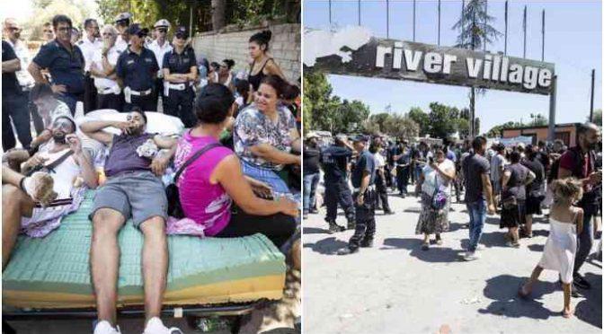 Ruspa: terminato sgombero campo nomadi, PD protesta