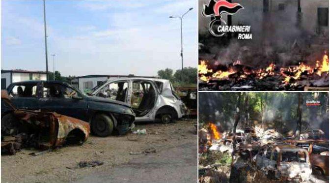 Nomadi assaltano automobilisti e treni a Roma: lancio di pietre, terrore e auto incendiate – VIDEO