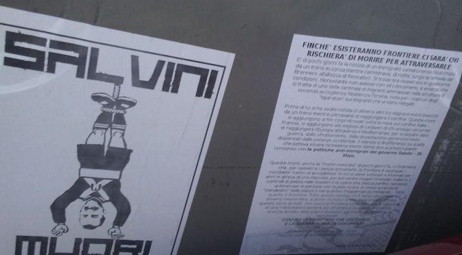 "La sinistra appende a testa in giù Salvini: ""Muori"" – FOTO CHOC"