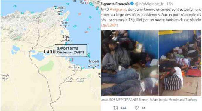 """Tunisia non vuole nave carica di clandestini: """"Andate in Italia"""""""