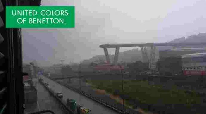 Chissà se Toscani farà una pubblicità Benetton sul Ponte Morandi…