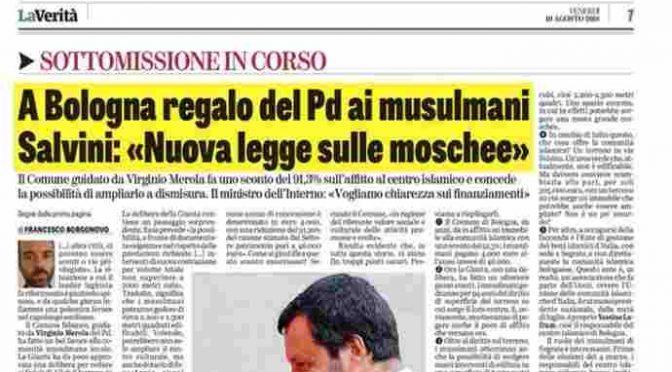 Pd regala moschea agli islamici, Salvini blocca tutto