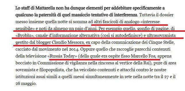Mattarella scheda i giornalisti populisti, dossier al Quirinale