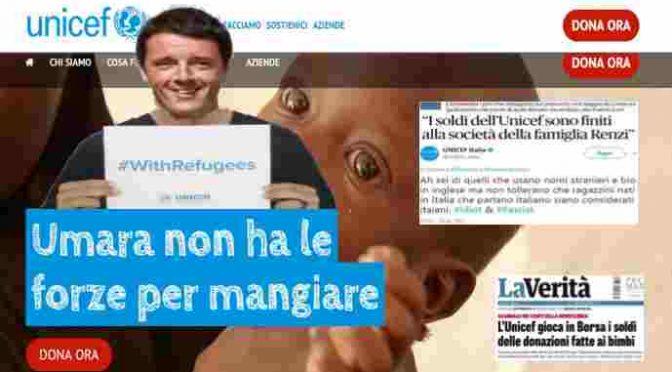 Soldi scomparsi: perché Unicef non denuncia i Renzi?