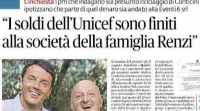 Unicef si rifiuta di denunciare il clan Renzi: così l'inchiesta si blocca