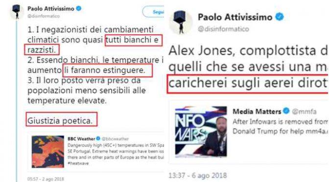 Collaboratore Boldrini si augura scomparsa dei bianchi