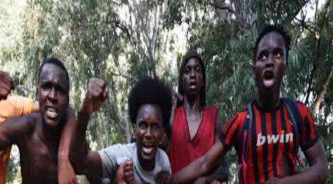 Il paese occupato dagli africani: cittadini ostaggio e carabinieri in fuga – VIDEO