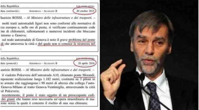 Svolta sul Ponte Morandi: magistrati puntano Delrio