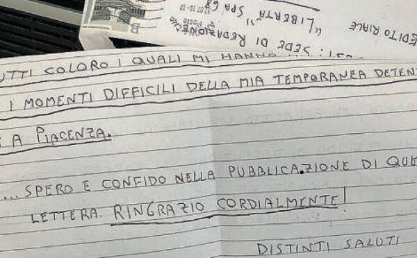 "Luca Traini scrive agli agenti: ""Grazie"""