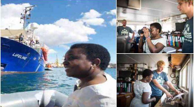 Kyenge sulla nave Ong anti-italiana Lifeline – FOTO