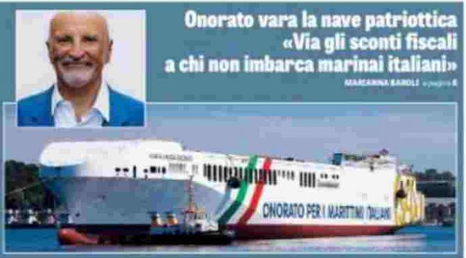 Salpa la nave patriottica: solo marinai italiani