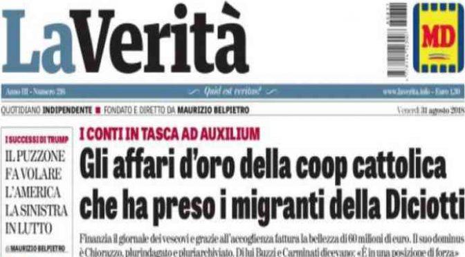 Diciotti, la Coop del Vaticano incassa 60 milioni di euro