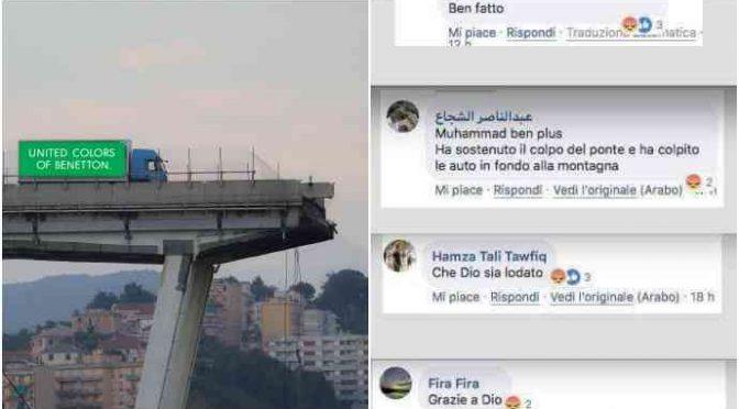 Genova: musulmani esultano per ponte crollato
