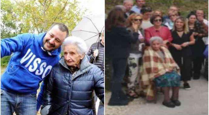 Salvini annuncia ritorno a casa di Nonna Peppina